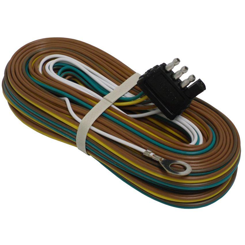 4 Way Flat Wishbone Wiring Harness (30')   Wishbone Wire Harness      Mirage Trailers