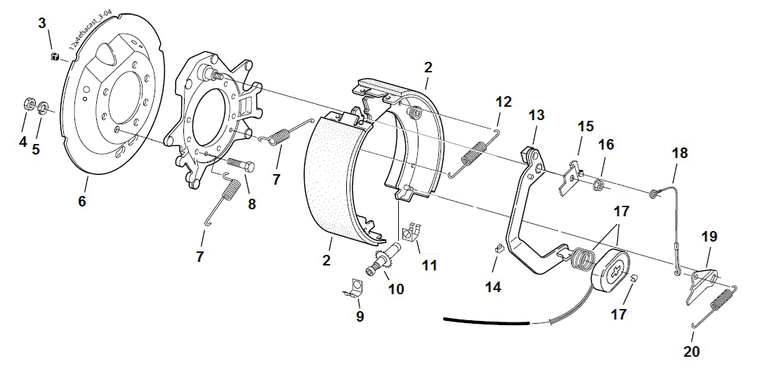 Fsa Brake Assembly Part 12 U0026quot  X 2 U0026quot  7000lbs