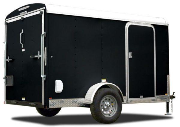 trailer black aluminum skin